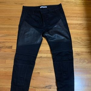 Givenchy leather moto jeans size 32
